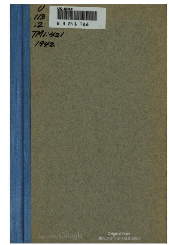 United States. War Department - TM 1-421 Milling Machines, Shapers, & Planers